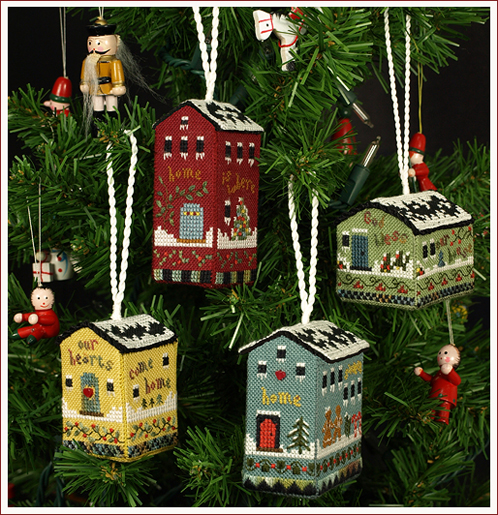 Victoria Sampler's Beautiful Finishing Series F03 Little House Ornaments