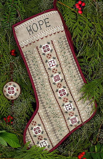 Victoria Sampler Designs By LindaLR03 Mistletoe Stocking