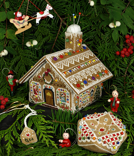 Victoria Sampler110 Gingerbread Stitching House Collection