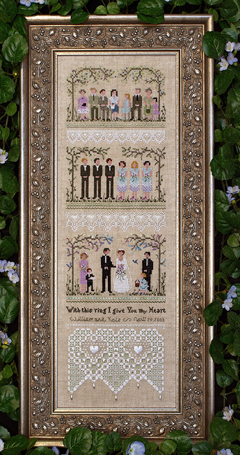 Victoria Sampler126 Garden Wedding Sampler