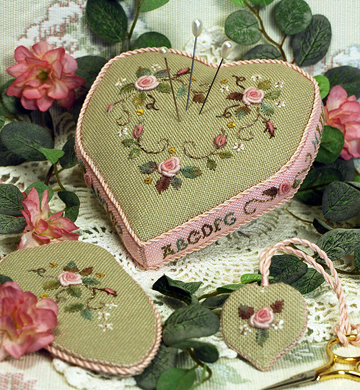 Victoria Sampler131 Valentine Pincushion