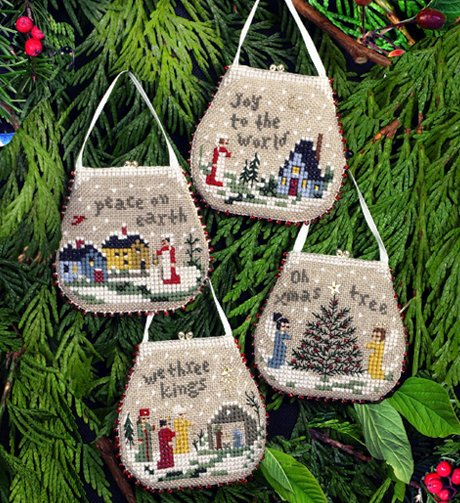 Victoria Sampler136 Mini Purse Ornaments