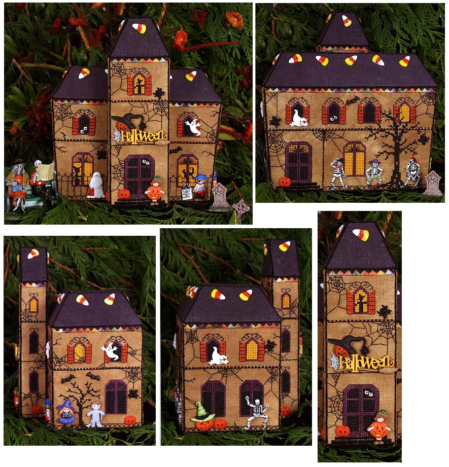 Victoria Sampler153 Gingerbread Haunted House