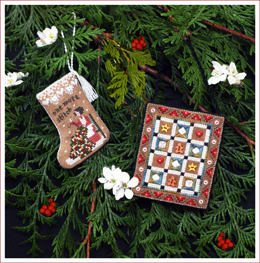 Victoria Sampler176 Gingerbread Quilty Ornaments