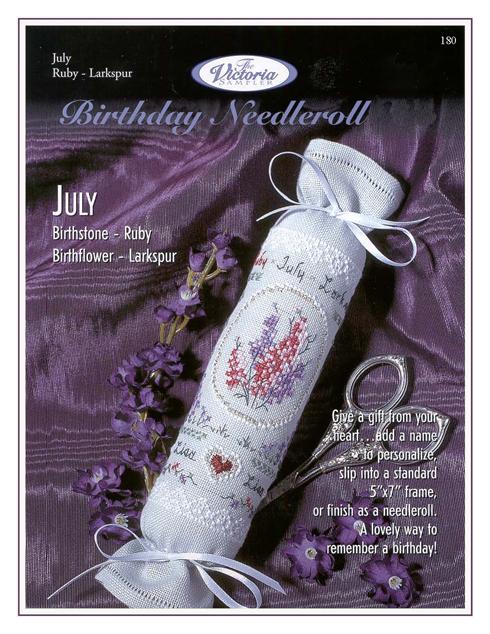 Victoria Sampler180 Birthday Needleroll July