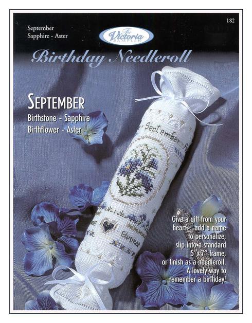 Victoria Sampler182 Birthday Needleroll September