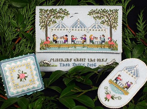 Victoria Sampler183 Stitching Under the Oaks Sampler Leaflet