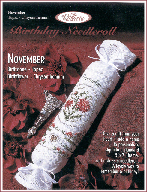 Victoria Sampler186 Birthday Needleroll November