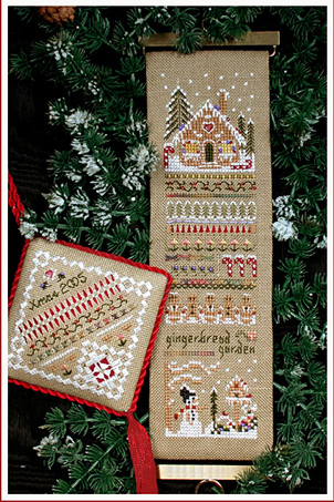 Victoria Sampler69 Gingerbread Garden Sampler