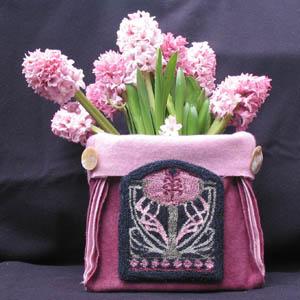 The Workbasket Art Nouveau Flower Punchneedle