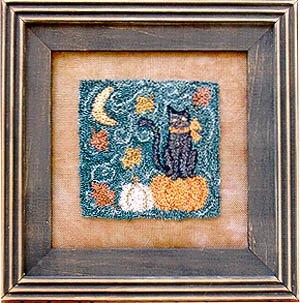 Waxing Moon DesignsAutumn Kitty Punchneedle