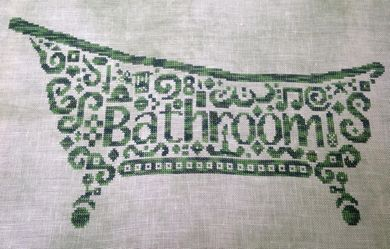 White Willow Stitching Tribal Bathroom