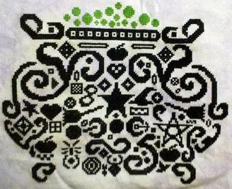 White Willow Stitching Tribal Cauldron