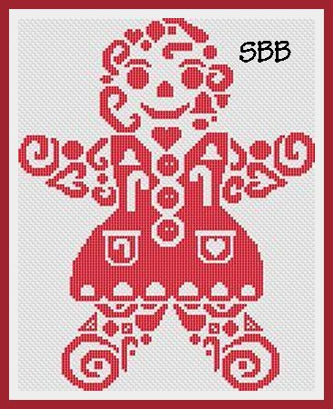 White Willow Stitching Tribal Gingerbread Woman