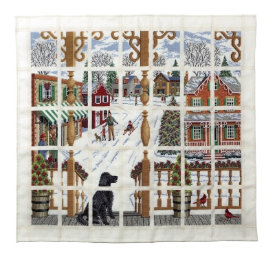 Wichelt Imports Christmas Town Afghan