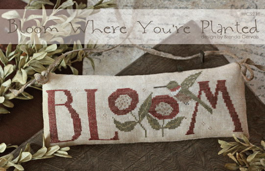 With Thy Needle CTS211 Bloom Where You're Planted