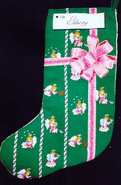 X's & Oh's Angel Stocking