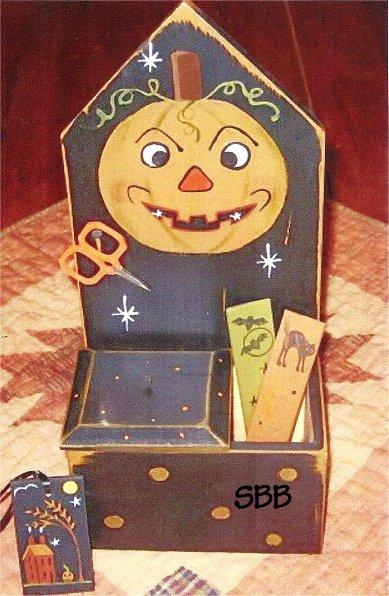 Liberty Hill Limited Edition Halloween Jack Stitcher's Wall Box